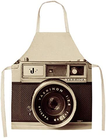 TPCMD Creativa cámara Historieta del algodón Delantales,2: Amazon ...