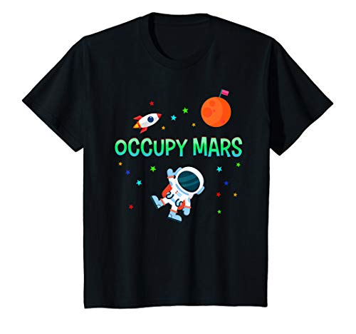 Kids Astronauts T Shirt Occupy Mars Boy Girl Space Age Stars Gift