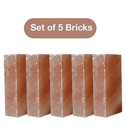 100% Pure Himalayan Salt Bricks Set Of 5 Salt Bricks 8x''4x''2x'' Crystal Rock Salt Cooking Slab Tiles Walls by Pink Salt wall