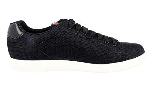 Prada Hombres Nylon Mesh Sneaker, Negro 4e2988