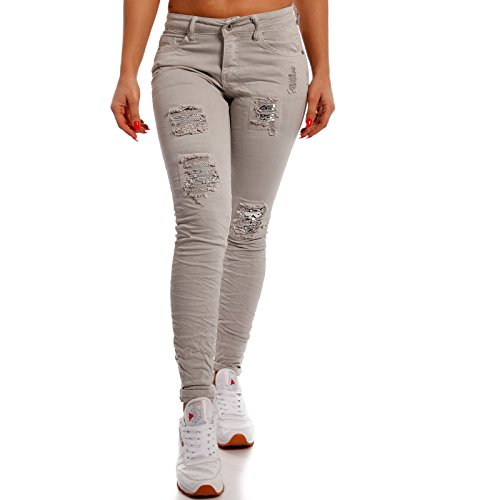 Young Basic Grau Skinny Jeans Donna fashion SqPtTwrpSx