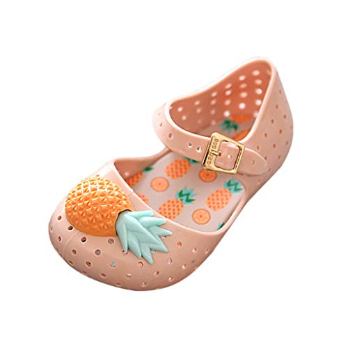 (Hi Top Sandals Baby Girls Pineapple Decorative Soft Bottom Non-Slip Shoes)