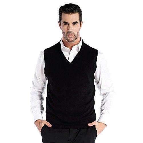 V-Neck Wool Vest - 1