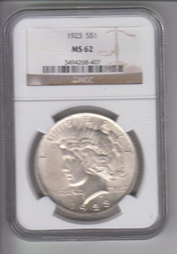 1923 Peace Dollar NGC MS62