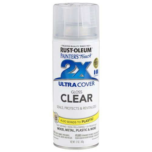 Rust-Oleum 249117 Painter's Touch 2X Ultra Cover, 12 Oz, Gloss Clear
