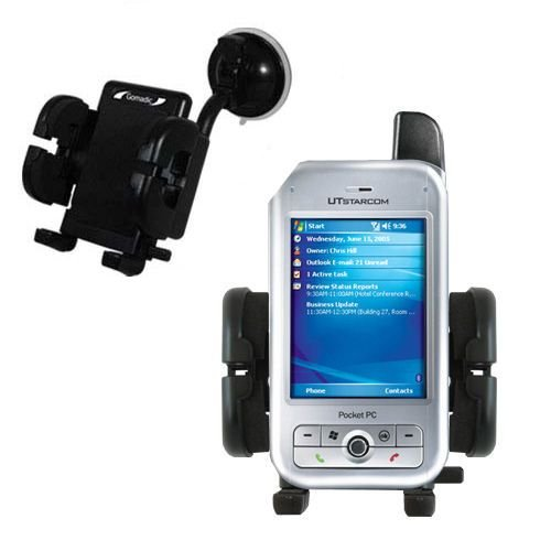 Windshield Vehicle Mount Cradle suitable for the Audiovox PPC 6700 - Flexible Gooseneck Holder with Suction Cup for Car / Auto.