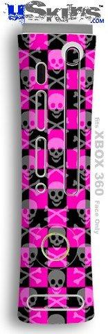 XBOX 360 Faceplate Skin - Skull Crossbones (Checkerboard Face)