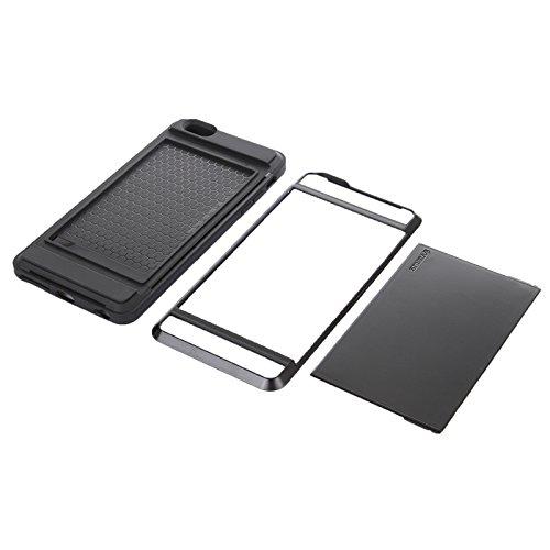 Phone Taschen & Schalen Für IPhone 6 Plus / 6S Plus, Blade PC + TPU Kombi-Gehäuse mit Kartensteckplatz ( Color : Black )