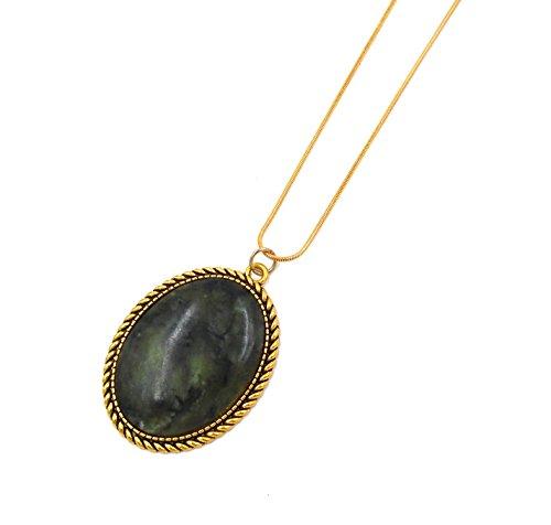 Connemara Irish Marble: Oval Rope Medallion