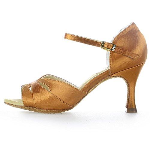 2059 Jia latine de Jia danse Chaussures Marron satin d5x4w1f