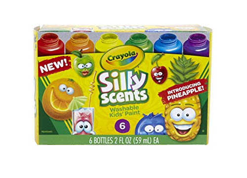 Crayola Silly Scents, Washable Kids Paint, Scented Paint, 6Count