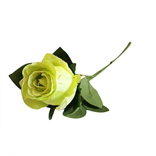 Artificial Lifelike Single Stem Rose Flower Wedding Party Craft Decor (Blue) - 5