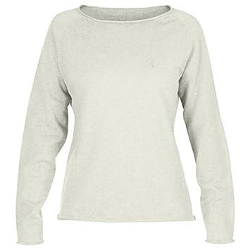 Fjällräven Övik Sweater Camiseta, Mujer, Beige (Ecru), 2XS amazon el-beige Algodón