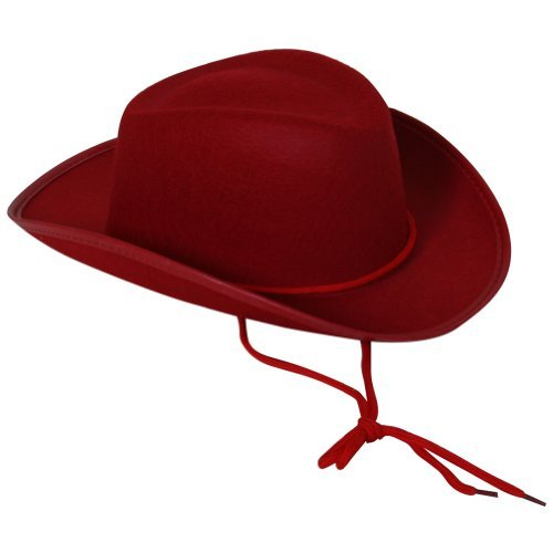 Red Child Size Felt Cowboy or Cowgirl Hat