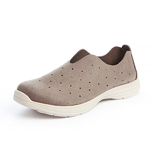 Ehomelife Men Comfortable Breathable Sneakers Lightweight Walking Running Casual Slip-On Loafers Tennis Shoes for Tai Chi Healthy Old Beijing Kung Fu Shoes (40/(US Men 7/Women 9), Coffee) - St Rock Sandal