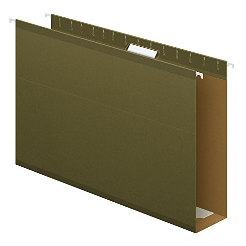 Green Box Bottom Hanging - Pendaflex Extra Capacity Reinforced Hanging File Folders, 3