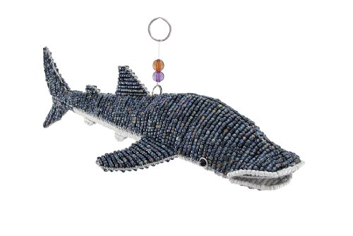 Beadworx Iridescent Glass Beaded Wire Whale Shark Sculpture