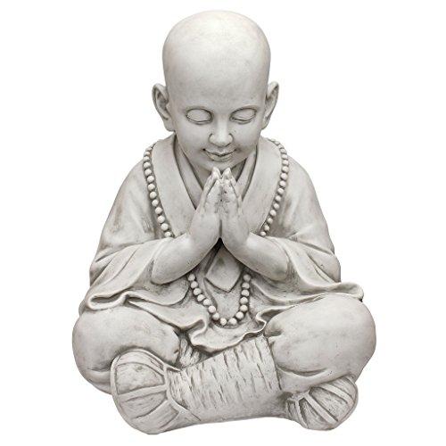 Design Toscano KY47127 Praying Baby Buddha Asian Garden Statue, Antique Stone ()