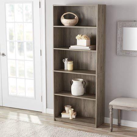 Mainstay` Wood 5-Shelf Bookcase in Oak