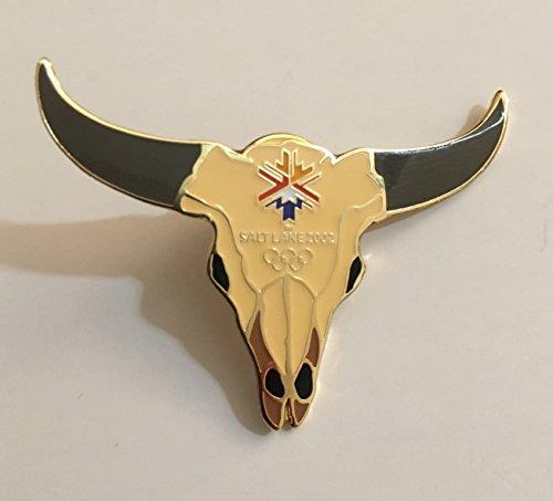 (Rare 2002 Salt Lake City Winter Olympics Western Steer Head Logo Pin Limited Edition of 2000)