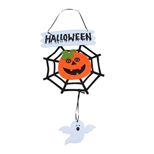 LUOEM Halloween Scary Decoration Non-Woven Hanging Spider Web Pumpkin Party Supplies -