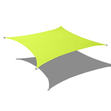 Alion Home Custom Sizes Rectangle PU Waterproof Woven Sun Shade Sail with Stainless Steel Hardware Kits Other Sizes, Pear Green