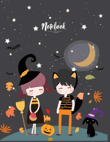 (Notebook: Happy halloween day with you cover and Lined pages, Extra large (8.5 x 11) inches, 110 pages, White paper (Happy halloween day with you notebook) (Volume)