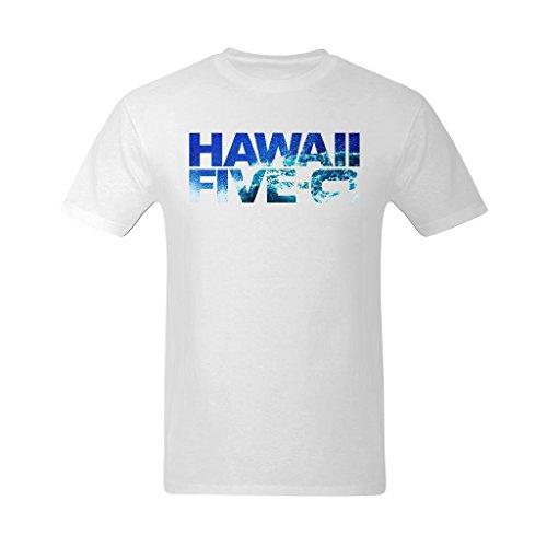 Youranli Men's Hawaii Five-0 Seawater Logo T Shirt XS