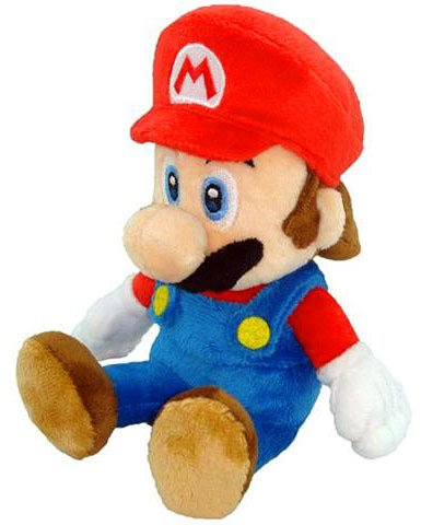 New Super Mario Bros. Wii 6 Inch Plush Sitting Mario