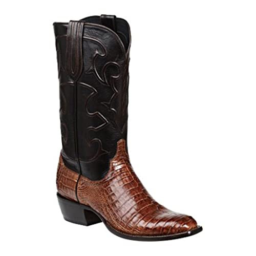 Lucchese Men's Handmade 1883 Charles Crocodile Belly Cowboy Boot French Toe Sienna 11 D(M) US