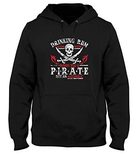 Pirate A Trk0745 Rum Noir shirtshock Capuche T Sweatshirt w0ExUTCxXq