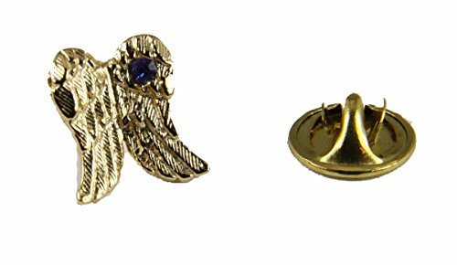 Pins & Brooches 6030042 Angel Wings Lapel Pin September Birth Month In Memory Of Tribute Honor (September Birthstone Angel Pin)