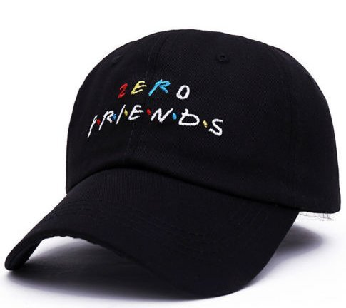 7901f461f Amazon.com: Embroidered ZERO FRIEND Dad Hat Adjustable Baseball Cap ...