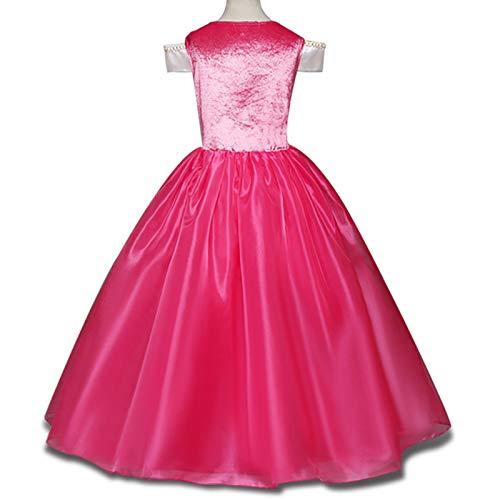 Bois La Costume Se Princesse Aurore Robe Belle Pretty Princess Dormant Déguiser Au Rose Fille Vif PkwuZOXiTl