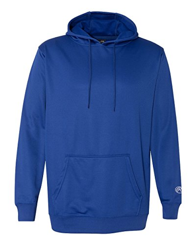 Rawlings 9709 Mesh Fleece Huvtröja Royal