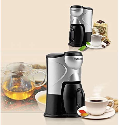 Douerge Pequeña máquina de café portátil para el hogar cafetera de Goteo 0.15L con Taza de cerámica máquina de té de Doble Uso automática 300 W para Oficina del Hotel: Amazon.es: Hogar