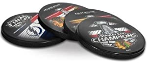 Chicago Blackhawks 2015 Stanley Cup Hockey Puck Coaster Set (4 Coasters)