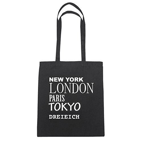 York Herz En Trois Jollify New Paris London Coton Tokyo Hände Repère Schwarz Natur Sac B1191 pfnqx8HPn