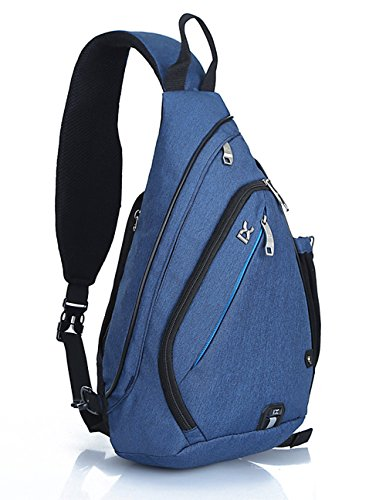 Waterproof School Bookbag Travel Hiking Backpack Dark Blue - 8