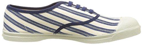 Bensimon Tennis Lacet Rayures Transat - Botas Mujer Azul (Bleu)