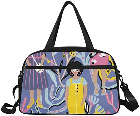 XiexHOME Sport Duffle Bag for Women Retro Colorful Square Sunglasses Yoga Gym Totes Fitness Handbags Duffel Bags Shoe Pouch for Sport Luggage Womens Outdoor Small Handbag