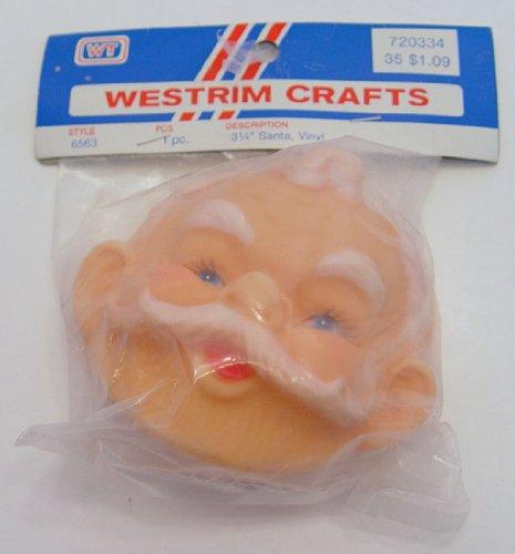 "Westrim Craft Doll Head Santa #6563 3.25"" Vinyl"