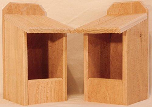 2 Cedar Nesting Boxes Cardinal Nest
