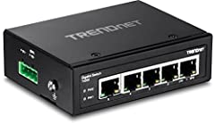 Trendnet's TI-G50 is a reliable IP30 unmanaged DIN-Rail switch with hardened components rated for extreme industrial environments. It offers 5 Gigabit ports and a 10 Gbps switching capacity. Dual redundant power inputs (power adapter sold sep...