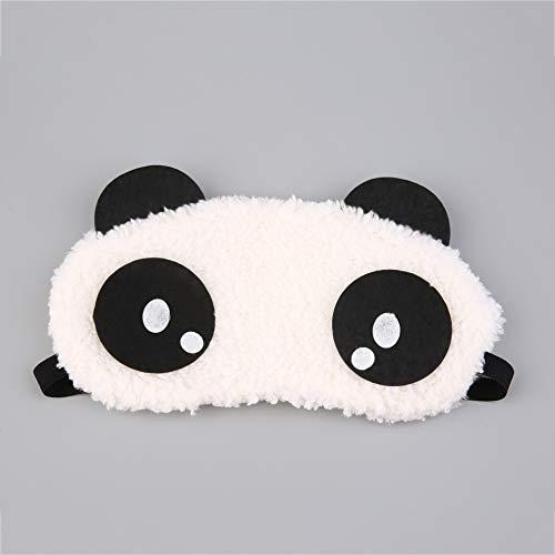 n Plush Panda Face Eye Mask Travel Sleeping Soft Eye Masks Blindfold Shade Portable Relieve Stress Sleeping Eye Cover ()
