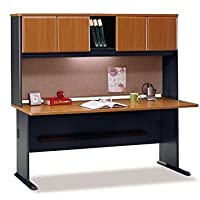 Bush Series A 72 Computer Desk with Hutch in Natural Cherry