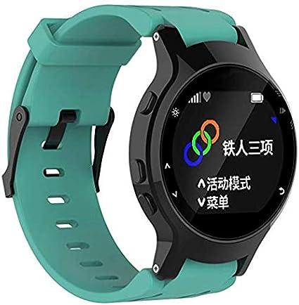 SUNEVEN Garmin Forerunner 225 GPS, Correa de Silicona Suave Ajustable de Repuesto para Reloj de Pulsera + Funda para Garmin Forerunner 225 GPS Watch