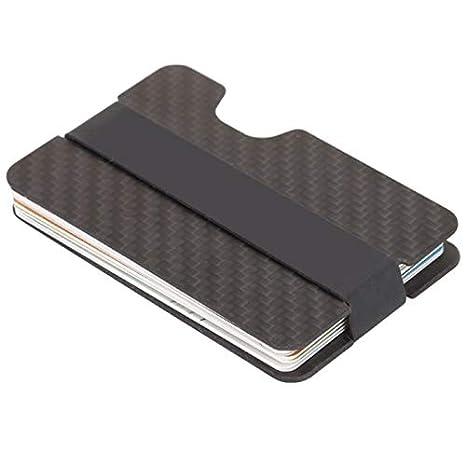 Wenquan,Titular de la tarjeta de crédito cartera minimalista(color:NEGRO AZABACHE): Amazon.es: Ropa y accesorios