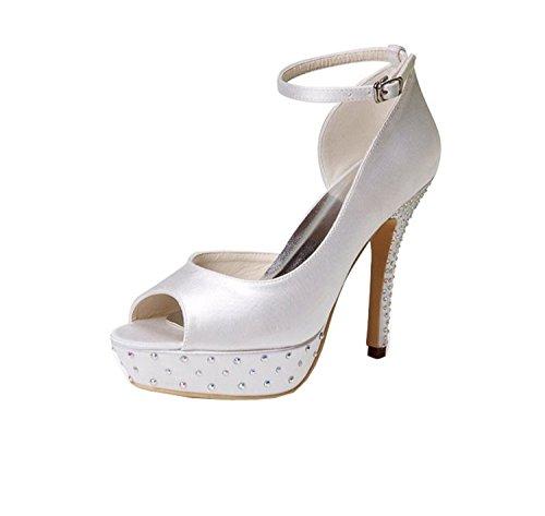 Minitoo , Sandales pour femme - blanc - White-12cm Heel,