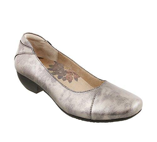 Taos Footwear Women's Debut Pewter Casual Slip On 7.5 B (M) US (Leather Footwear Pewter)